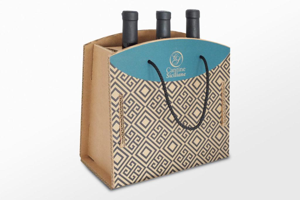 scatola ecologica per bottiglie