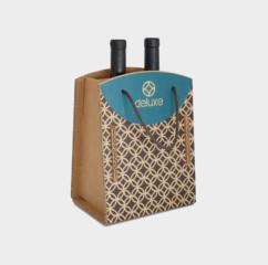 scatola cartone greenbag 2 bottiglie