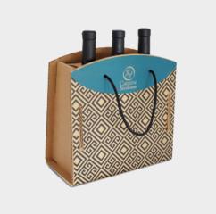 scatola cartone greenbag 3 bottiglie