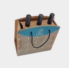 scatola cartone greenbag 3 bottiglie reggicollo