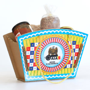 scatola in cartone tipo coffa siciliana