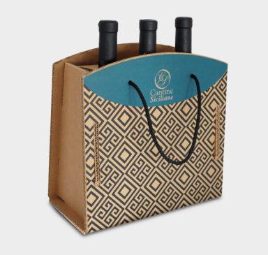 scatole in cartone per bottiglie vino